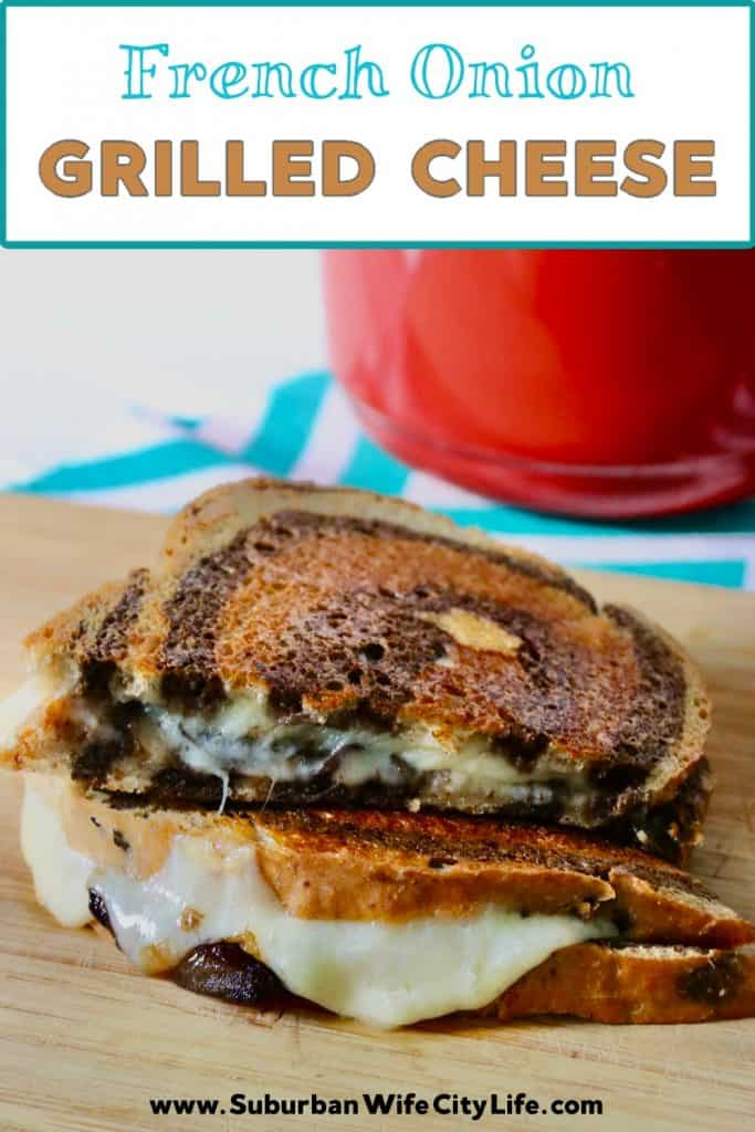 French Onion Grilled Cheese with Gruyere