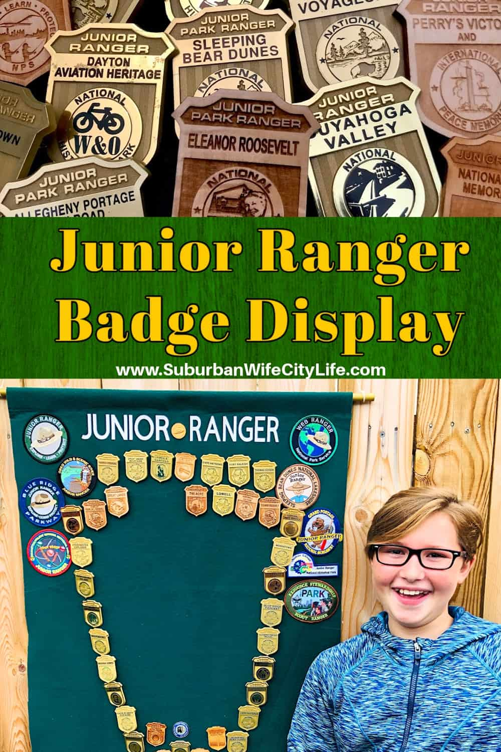 Display for Junior Ranger Badges