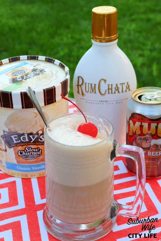 Rum Chata Root Beer Float