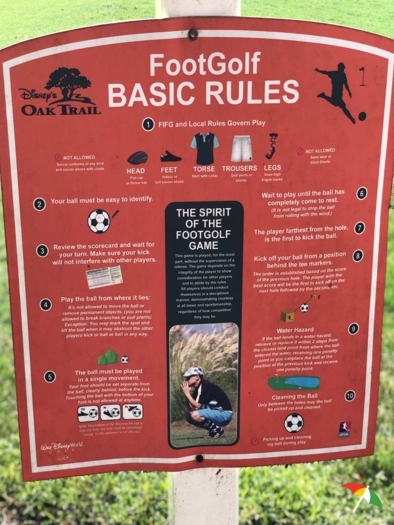 FootGolf Basic Rules